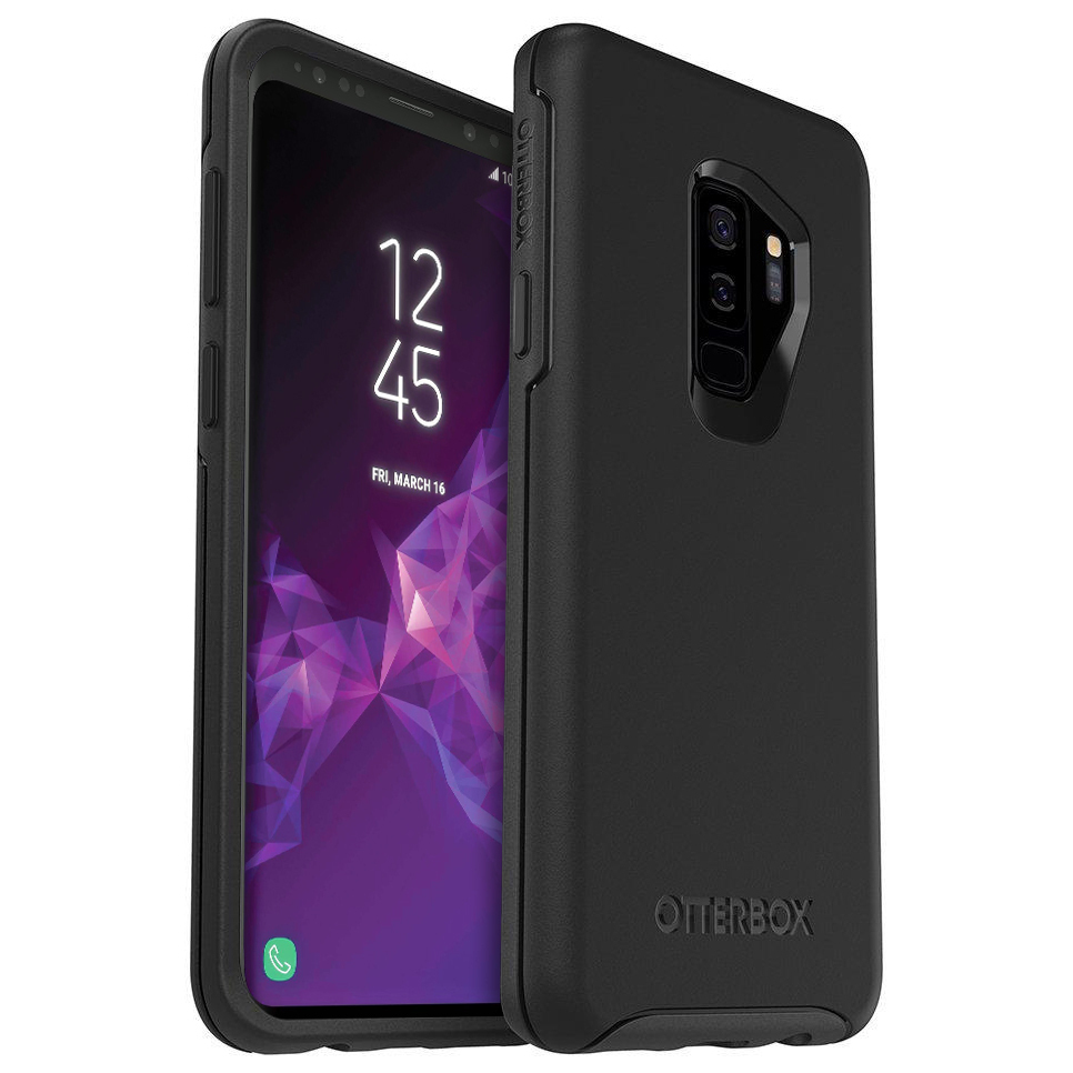 uk availability 88370 746e1 OtterBox Symmetry Case for Samsung Galaxy S9+ (Black)